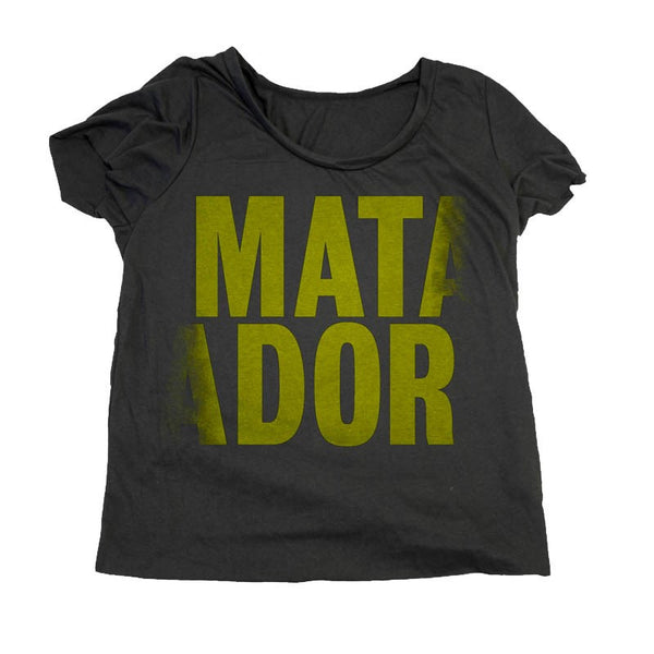 MATADOR GIRLS BLACK SCOOP T-SHIRT