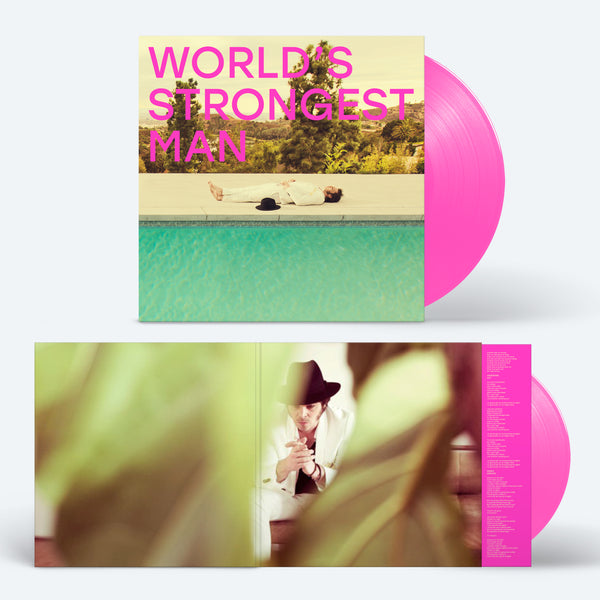 WORLD'S STRONGEST MAN - PINK VINYL WITH SIGNED PRINT