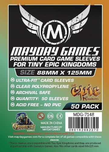 Mayday Games Premium Card Sleeves 88mm x 125mm 50CT