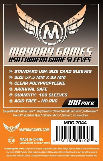 Mayday Games USA Chimera Standard Card Sleeves 57.5mm x 89mm 100CT