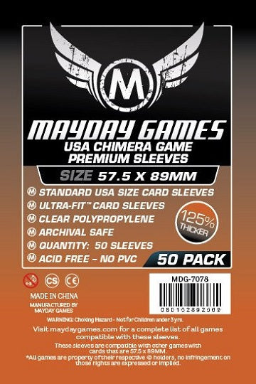 Mayday Games USA Chimera Premium Card Sleeves 57.5mm x 89mm 50CT