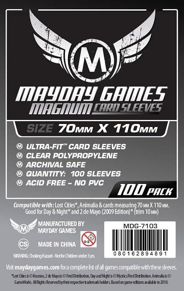 Mayday Games Magnum Standard Card Sleeves 70mm x 110mm 100CT