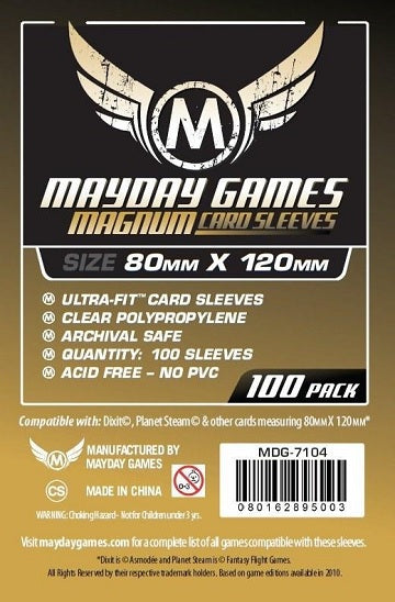 Mayday Games Magnum Card Sleeves 80mm x 120mm 100CT