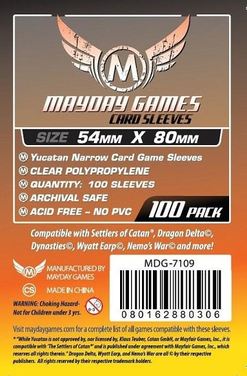 Mayday Games Standard Card Sleeves 54mm x 80mm 100CT