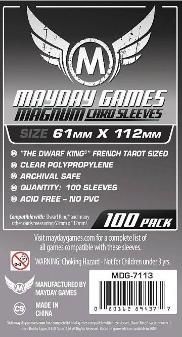 Mayday Games Tarot Magnum Card Sleeves 61mm x 112mm 100CT
