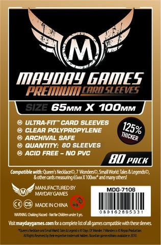 Mayday Games Magnum Premium Card Sleeves 65mm x 100mm 80CT