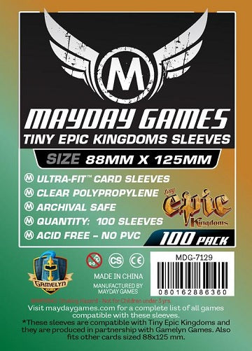 Mayday Games Standard Card Sleeves 88mm x 125mm 100CT