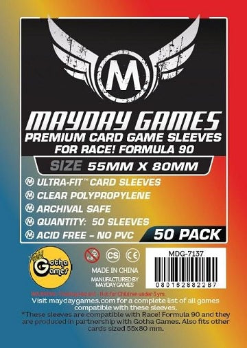 Mayday Games Premium Card Sleeves 55mm x 80mm 50CT