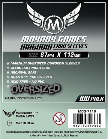 Mayday Games Magnum Oversized Card Sleeves 87mm x 112mm 100CT