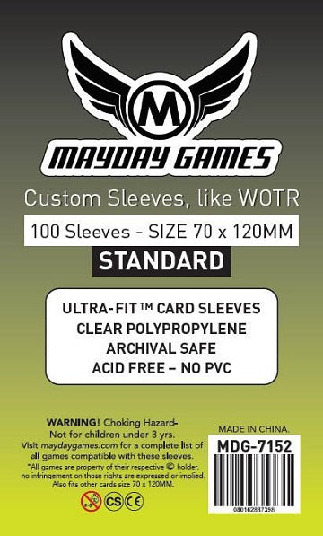 Mayday Games Standard Tarot Card Sleeves 70mm x 120mm 100CT