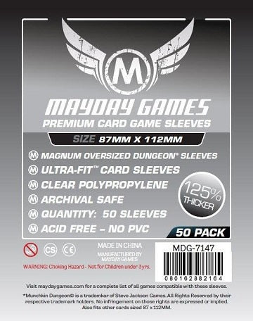 Mayday Games Premium Magnum Oversized Card Sleeves 87mm x 112mm 50CT