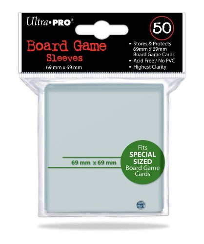Ultra Pro Board Game Sleeves 69mm x 69mm Sleeves 50CT