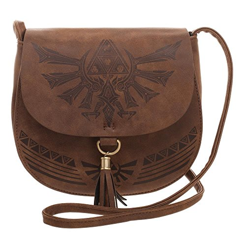 Nintendo - Zelda Saddle Bag With Tassel & Embossed Print Bag