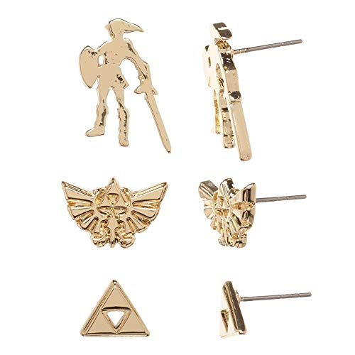 Nintendo - Zelda Golden 3pk Earrings