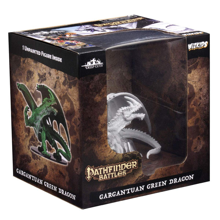 Pathfinder Battles Deep Cuts Unpainted Miniatures Gargantuan Green Dragon