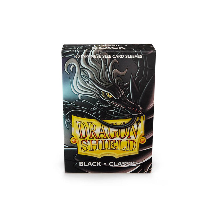 Dragon Shield Sleeves Black 60CT Japanese Size