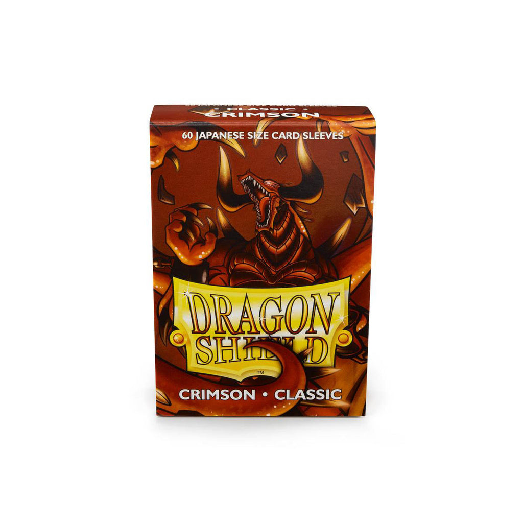 Dragon Shield Sleeves Crimson 60CT Japanese Size