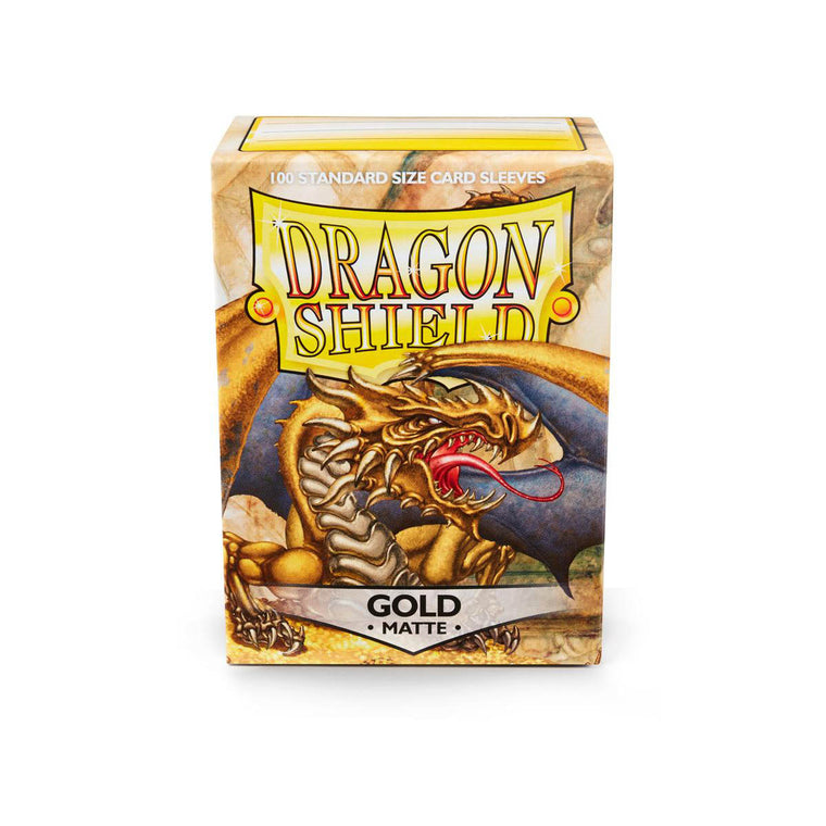 Dragon Shield Sleeves Matte Gold 100CT Standard Size