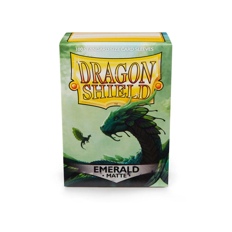 Dragon Shield Sleeves Matte Emerald 100CT Standard Size