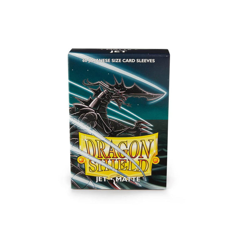 Dragon Shield Sleeves Matte Jet 60CT Japanese Size