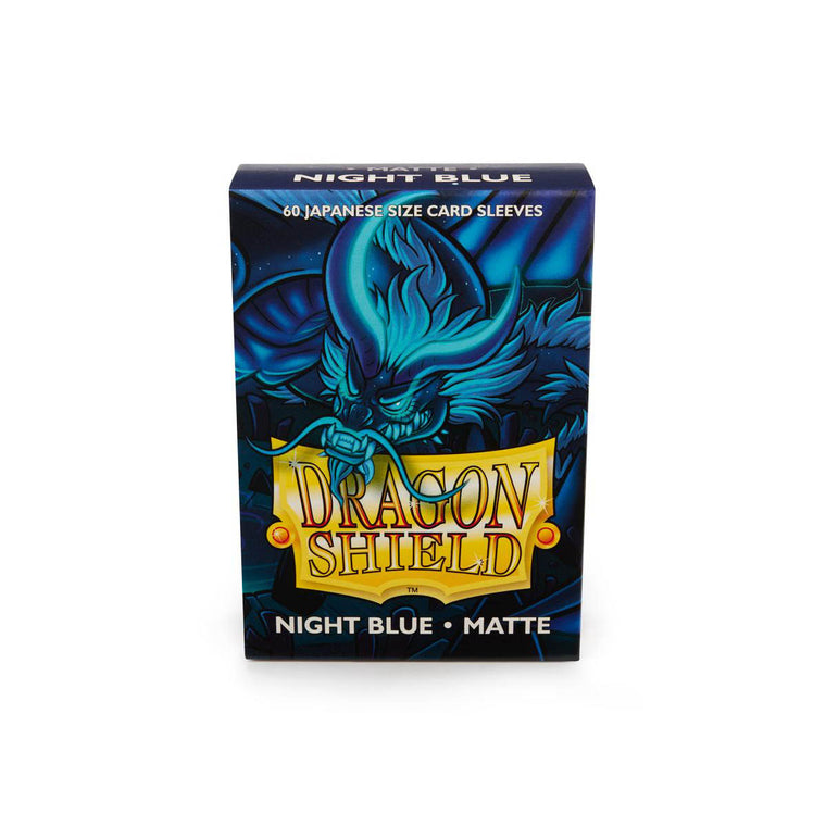 Dragon Shield Sleeves Matte Night Blue 60CT Japanese Size