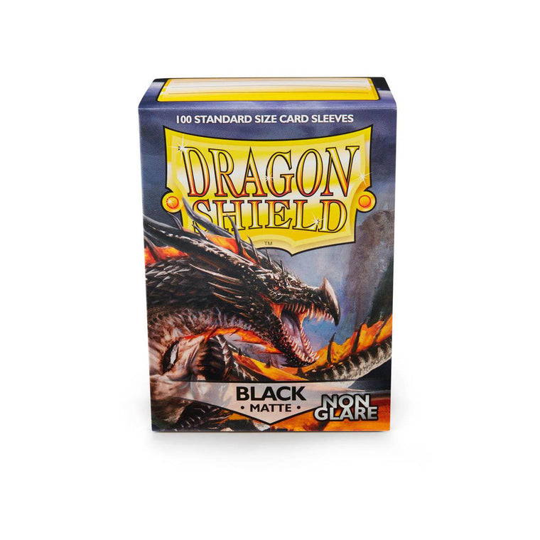 Dragon Shield Sleeves Matte Black Non-Glare 100CT Standard Size
