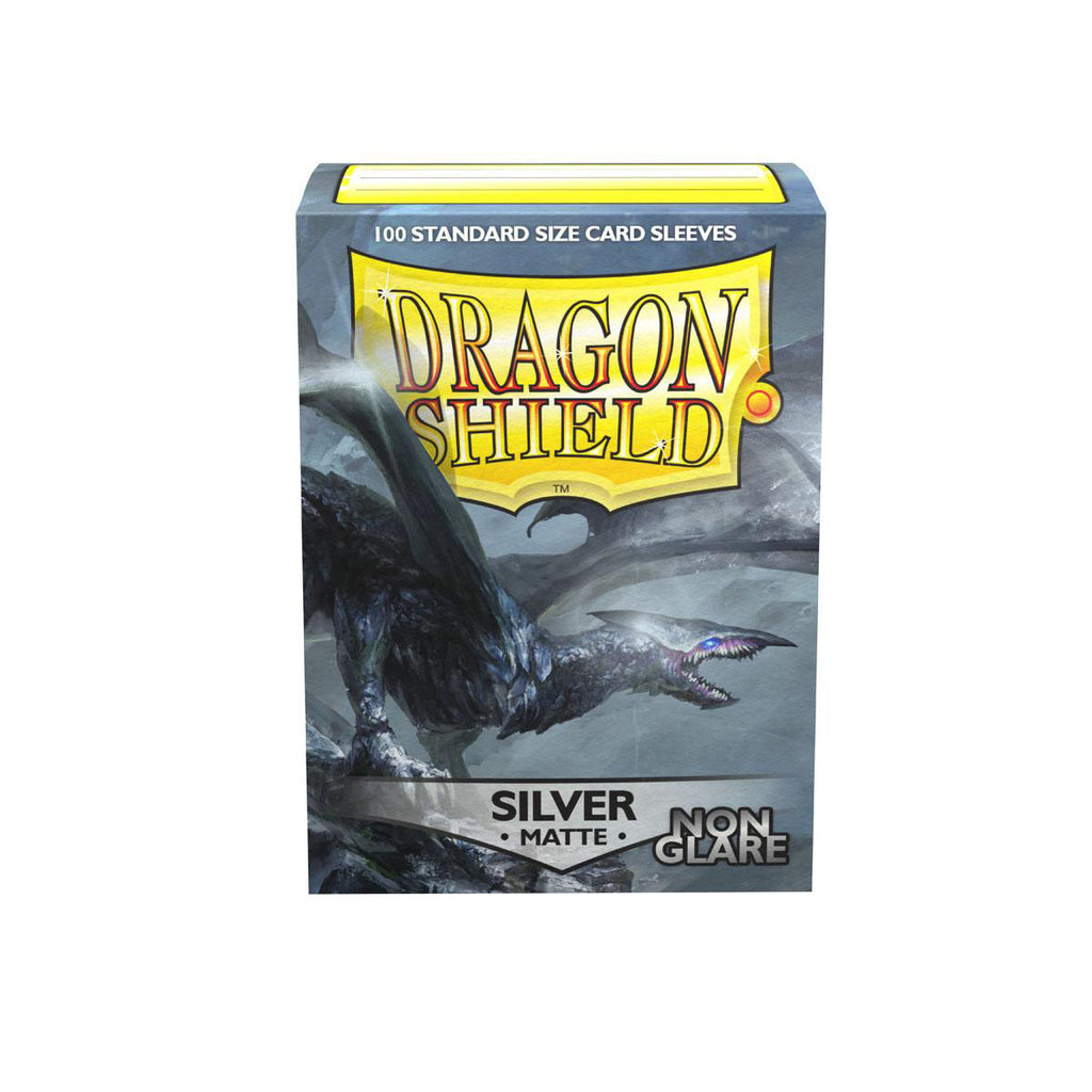 Dragon Shield Sleeves Matte Silver Non-Glare 100CT Standard Size