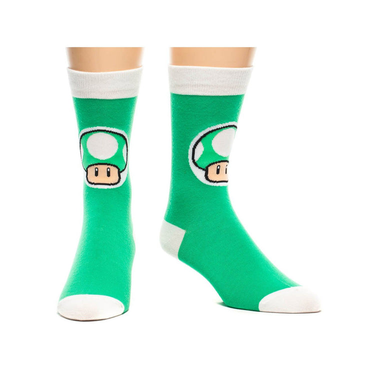 Nintendo Super Mario 1-Up Mushroom Socks
