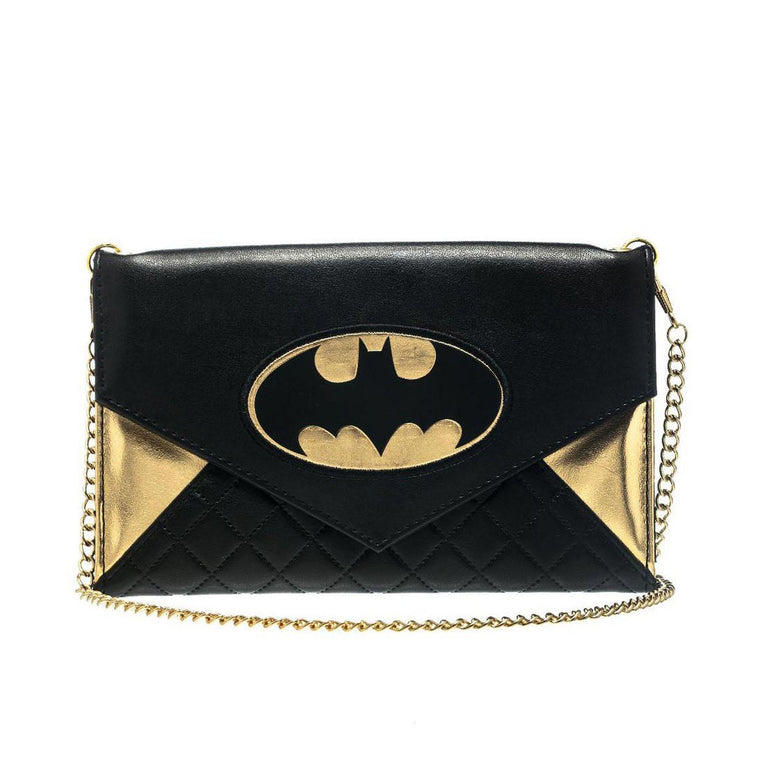 Batman Quilted Clutch with Chain