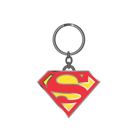 DC Comics Superman Logo Metal Keychain
