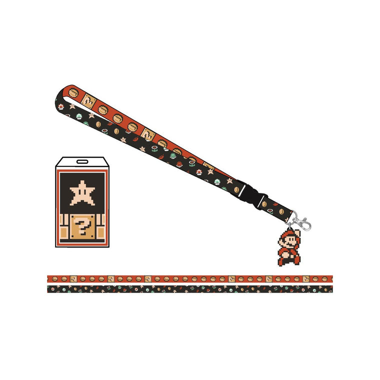 Nintendo Super Mario Retro Lanyard with Charm