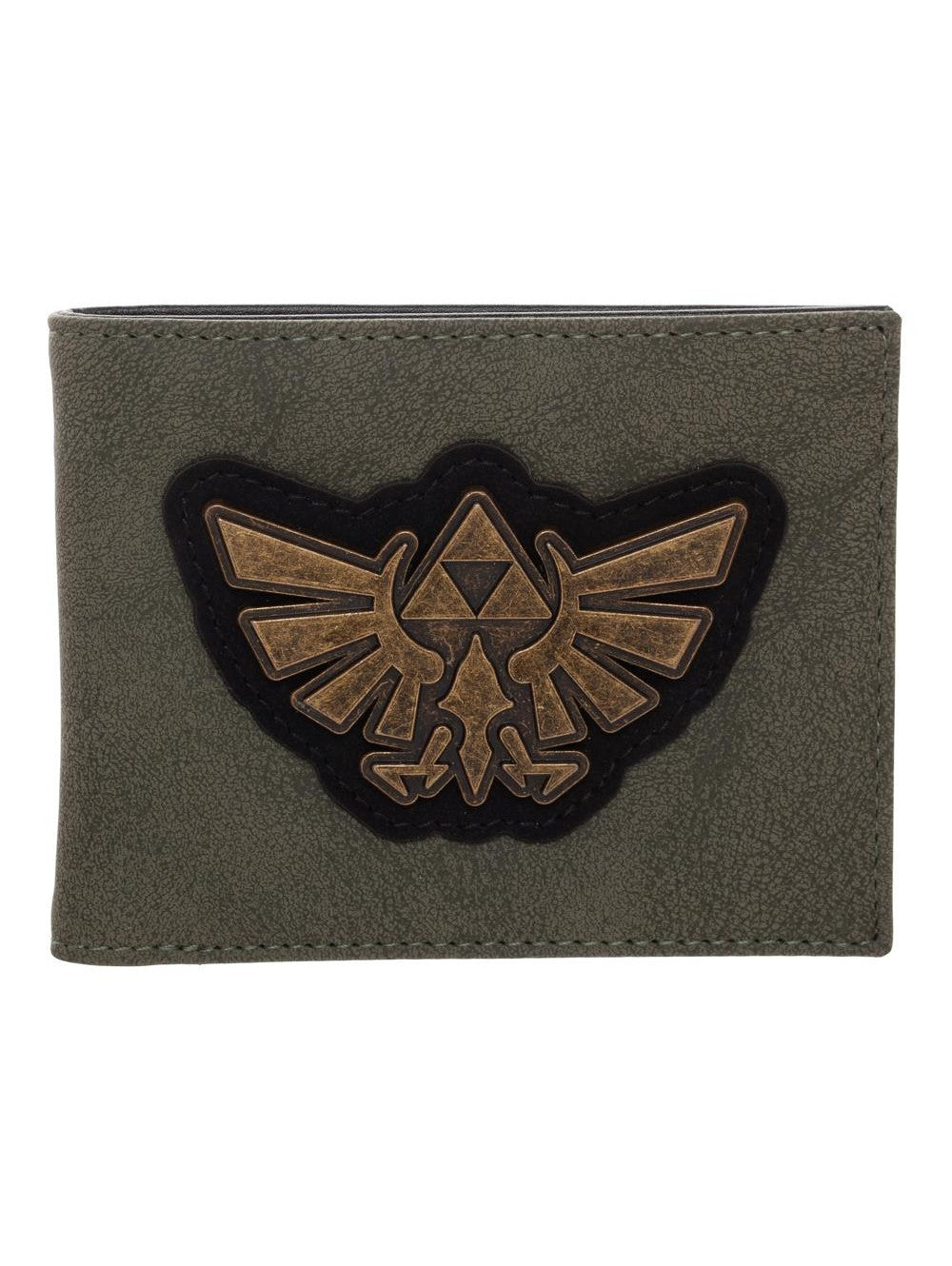 Nintendo - Zelda  Hyrule Crest Distressed Bifold With Metal Badge Wallet