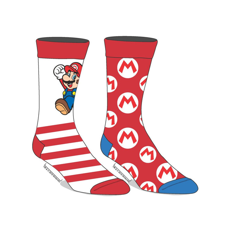 Nintendo Super Mario 2 Pack Socks