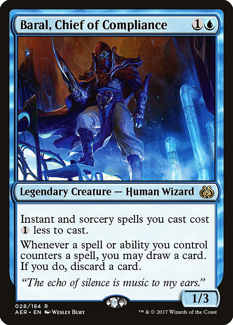 Aether Revolt Baral, Chief of Compliance
