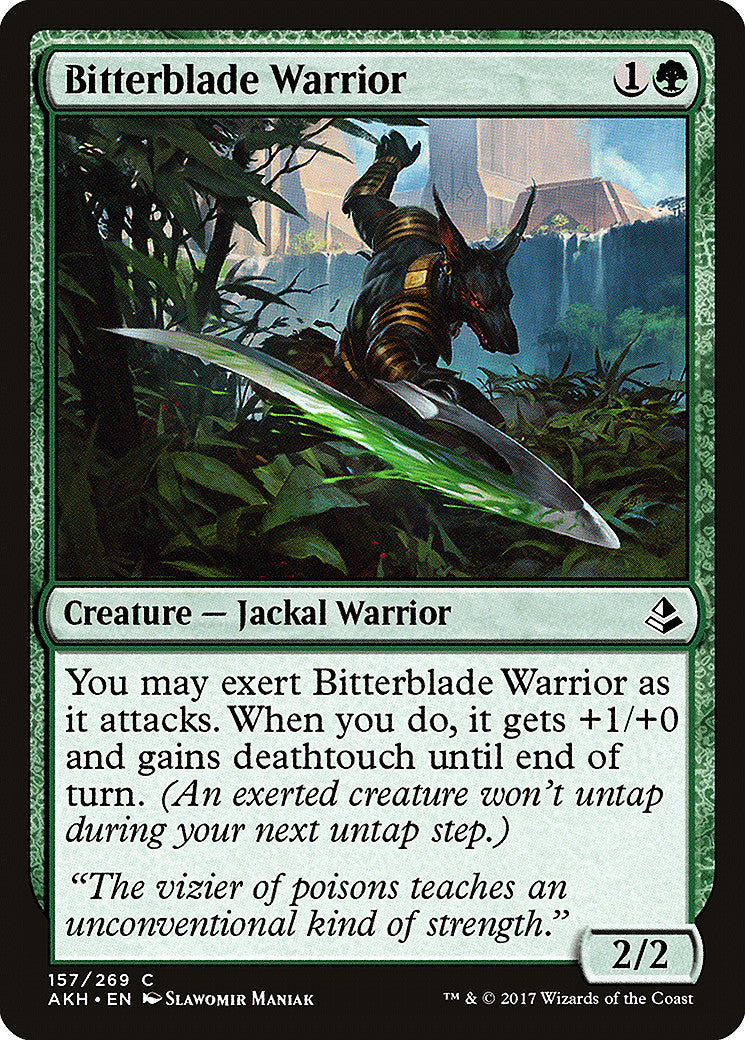 Amonkhet Bitterblade Warrior