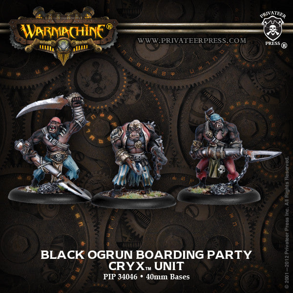 Warmachine Cryx Black Ogrun Boarding Party