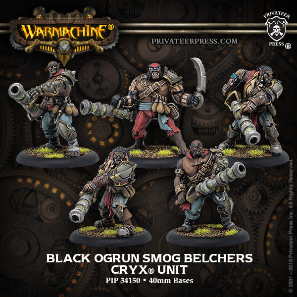 Warmachine Cryx Black Ogrun Smog Belchers