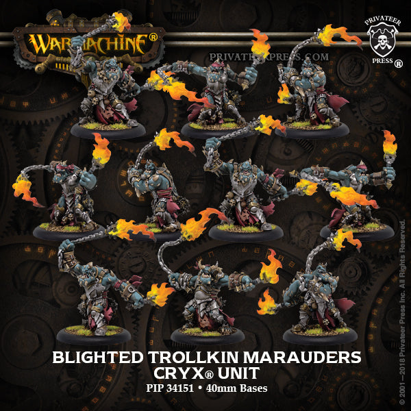 Warmachine Cryx Blighted Trollkin Marauders
