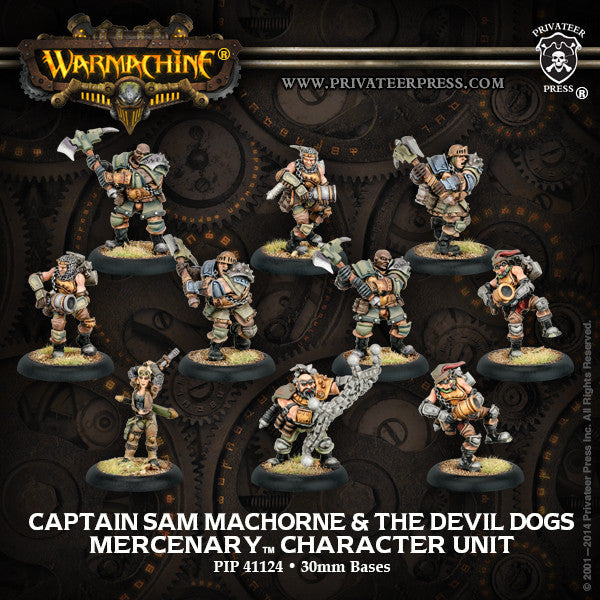 Warmachine Mercenaries Captain Sam Machorne & The Devil Dogs