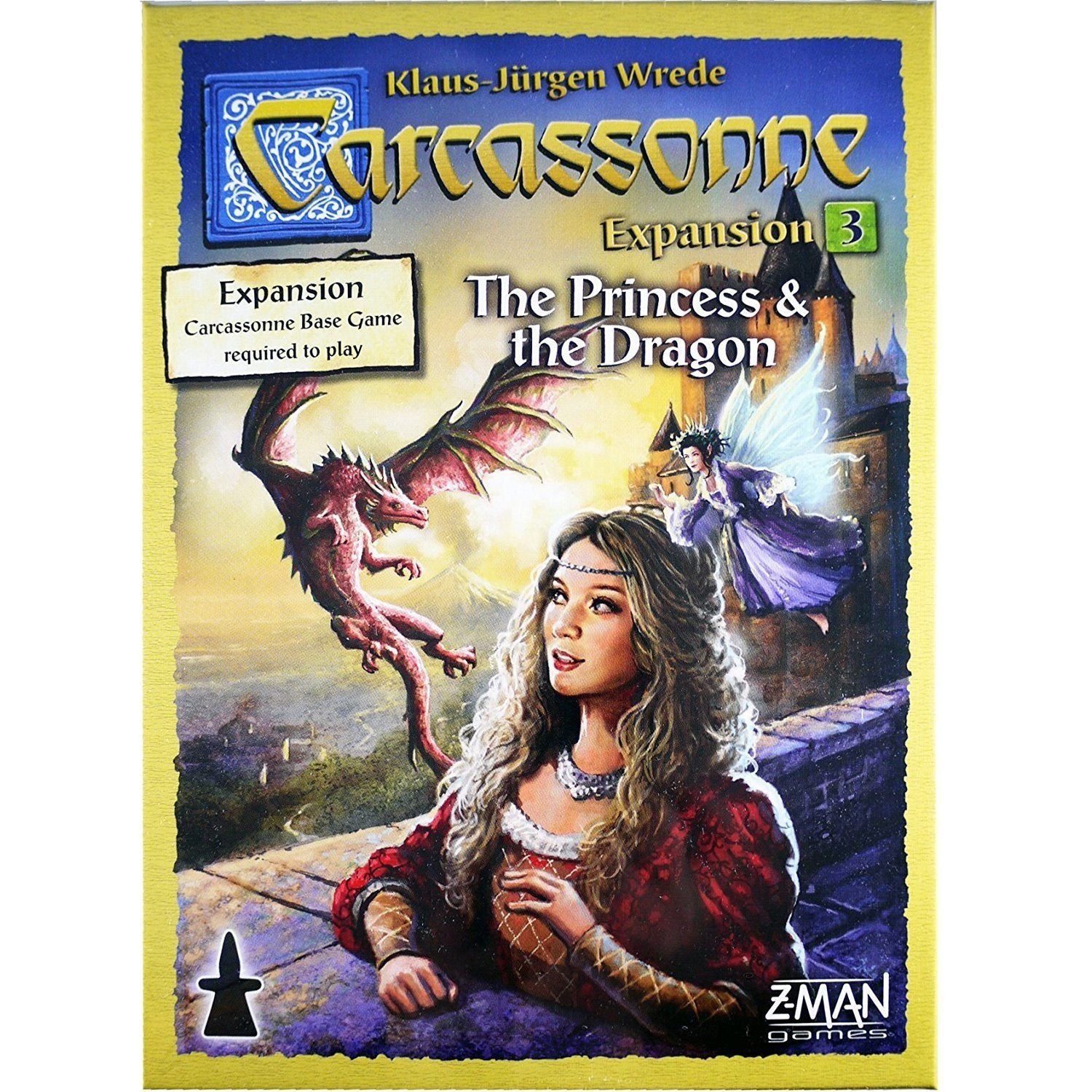 Carcassonne The Princess & the Dragon Expansion 3 New Edition