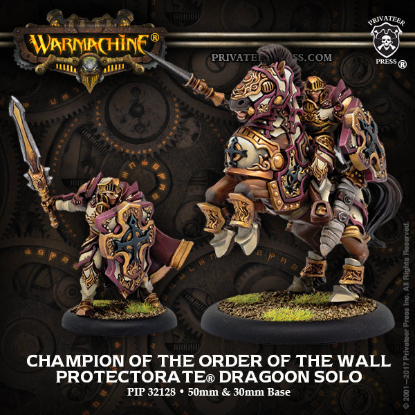 Warmachine Protectorate of Menoth Champion of the Order of the Wall