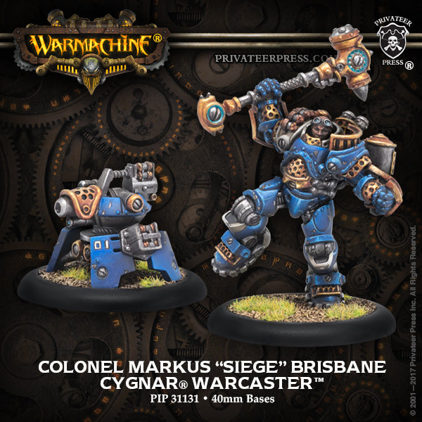 Warmachine Cygnar Colonel Markus Siege Brisbane
