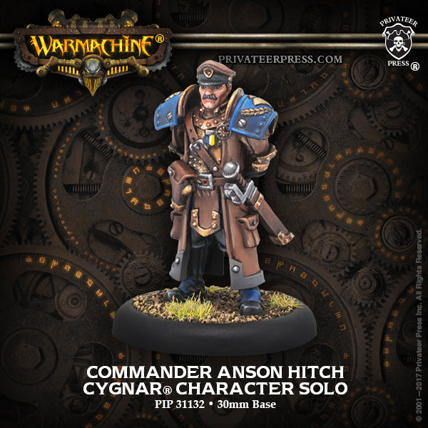 Warmachine Cygnar Commander Anson Hitch