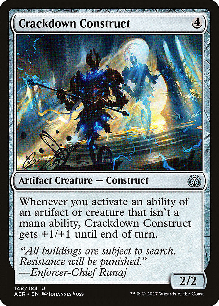 Aether Revolt Crackdown Construct