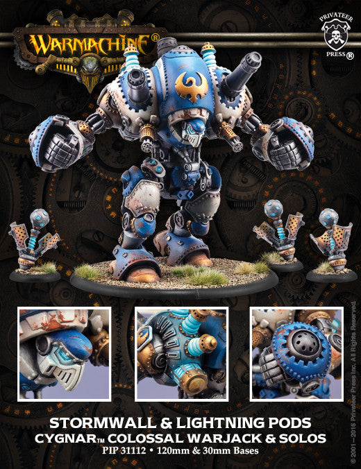 Warmachine Cygnar Hurricane / Stormwall Colossal