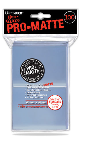 Ultra D-Pro Pro-Matte Sleeves Clear 66mm x 91mm 100CT