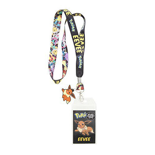 Pokémon Eevee Lanyard with Eevee Charm & Collectible Sticker