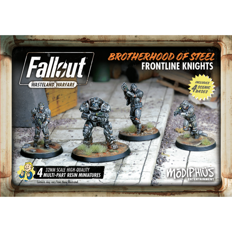 Fallout Wasteland Warfare Brotherhood of Steel Frontline Knights Set