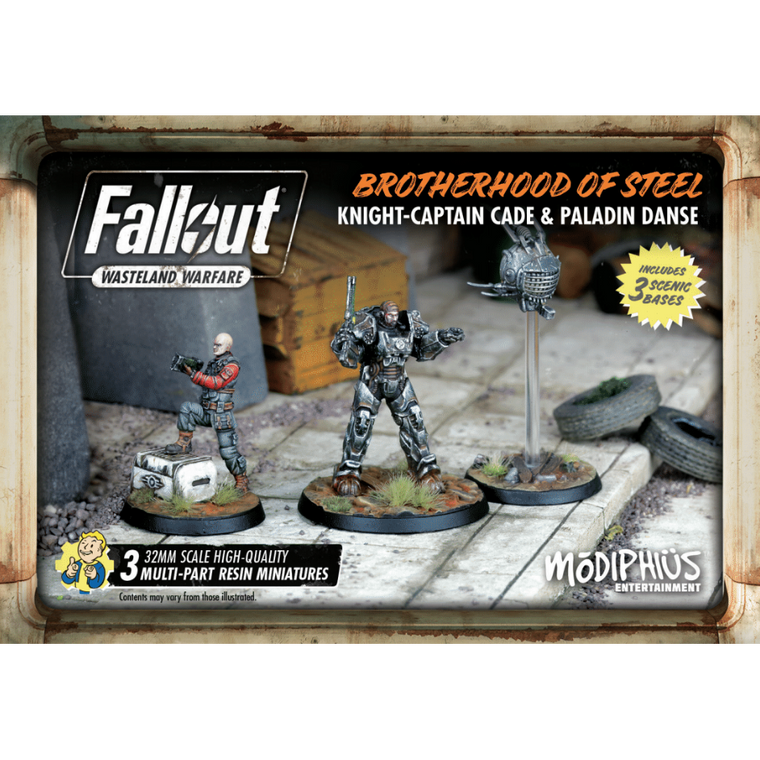 Fallout Wasteland Warfare Brotherhood of Steel Knight-Captain Cade and Paladin Danse