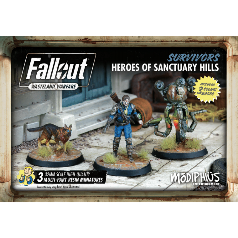 Fallout Wasteland Warfare Heroes of Sanctuary Hills Set